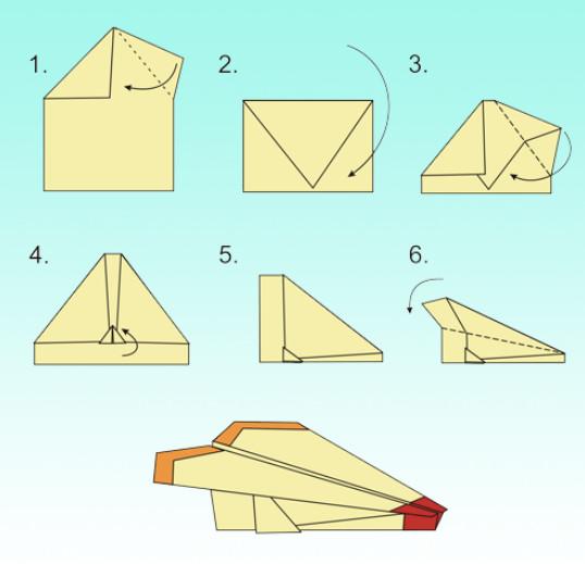 Как сделать из бумаги самолет который летает и возвращается