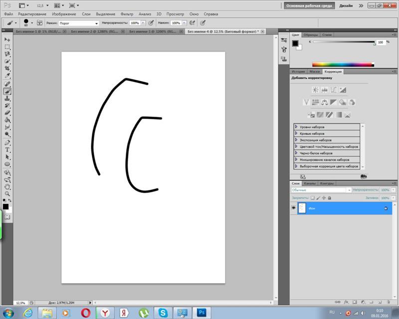 Графический планшет в фотошопе рисует линии