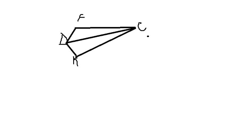 Докажите равенства треугольников dfc и dkc используя данные рисунка