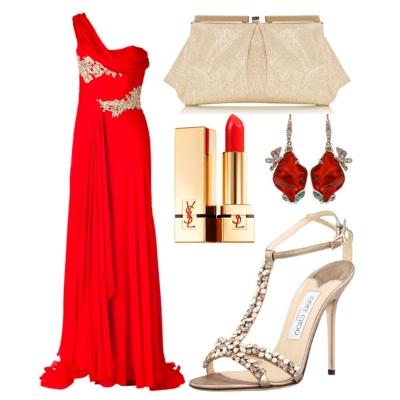 Аксессуары к красному вечернему платью
