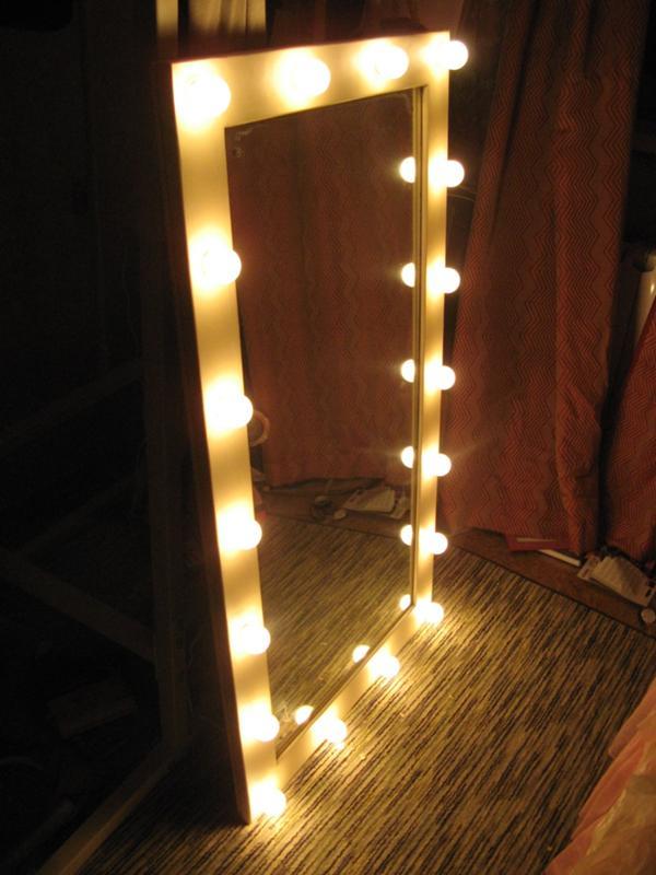 Мастер класс зеркало с лампочками