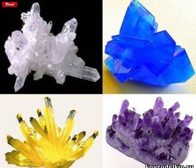 Как сделать камни из соли 370
