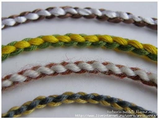 Плетение шнуров из ниток
