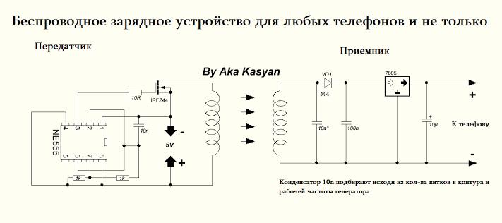 Беспроводная зарядка своими руками из зарядника 15