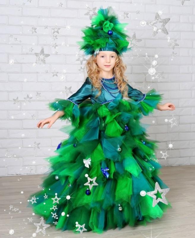 Как сделать костюм елки своими руками