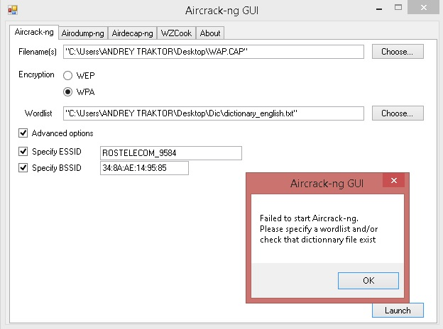 Aircrack Error Please Specify A Dictionary download - dietview