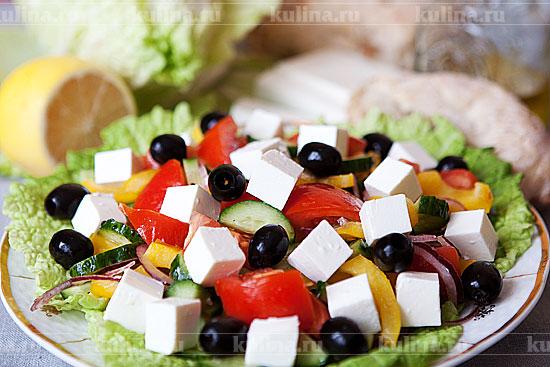 салаты рецепты греческий с фото