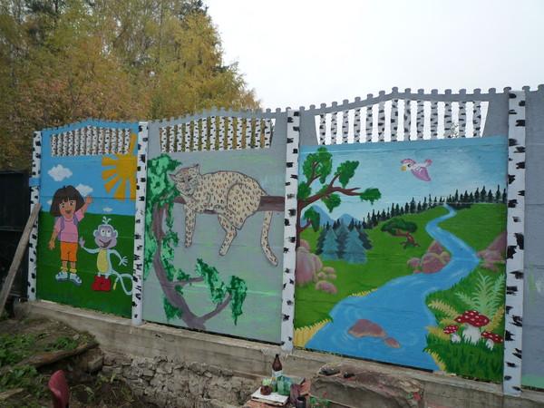 Как разрисовать забор не сложно