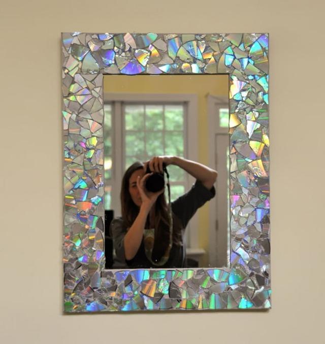Рамка на зеркало в домашних условиях