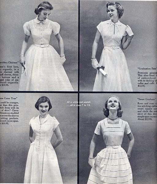 Платья 50-х годов ссср