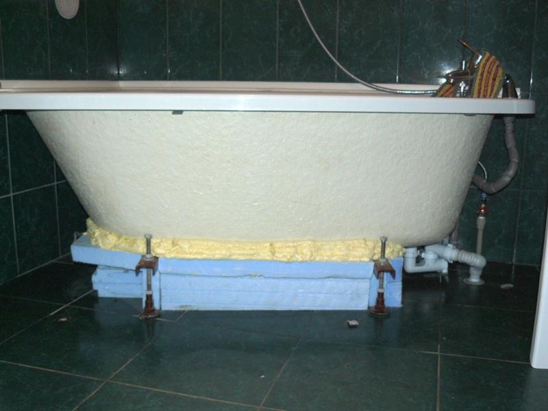 Укрепление акриловой ванны своими руками 12