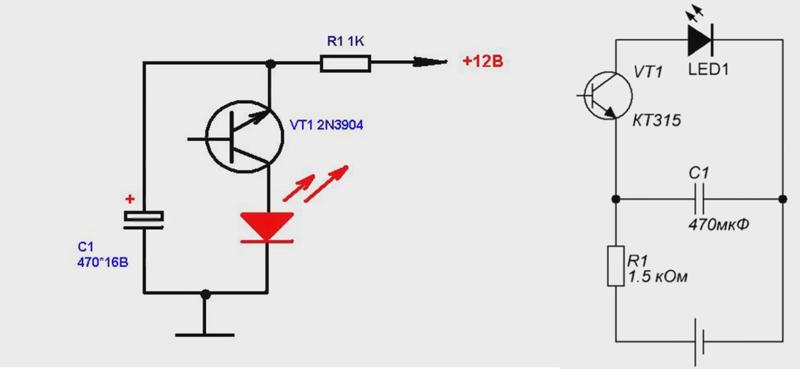 Как сделать мигающий светодиод при звонке