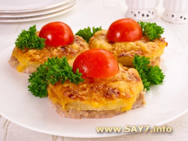 Свинина с сыром и ананасами в духовке рецепт пошагово в