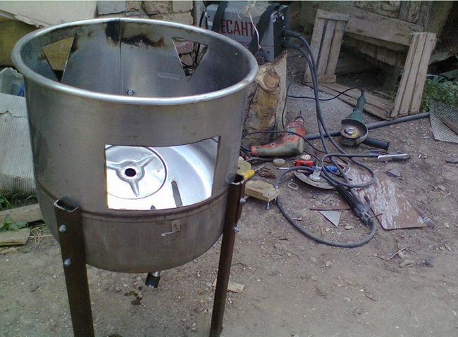 Коптильня из бака стиральной машины своими руками видео