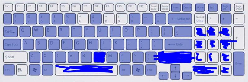 На клавиатуре не работают некоторые кнопки почему