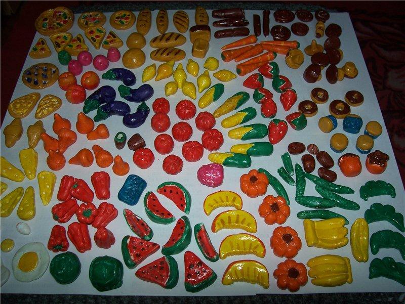 Мои поделки из пластилина еда