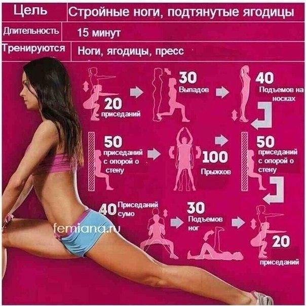 Как похудеть в ногах бедрах и талии