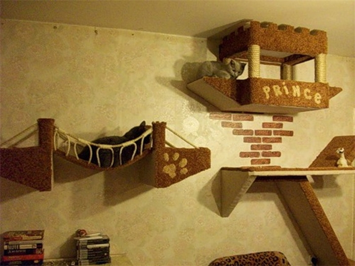 Для кошек домики своими руками фото