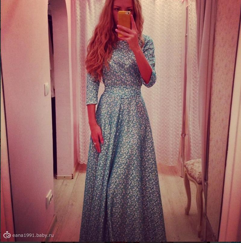 Вечерние платье своими руками с рукавами 56