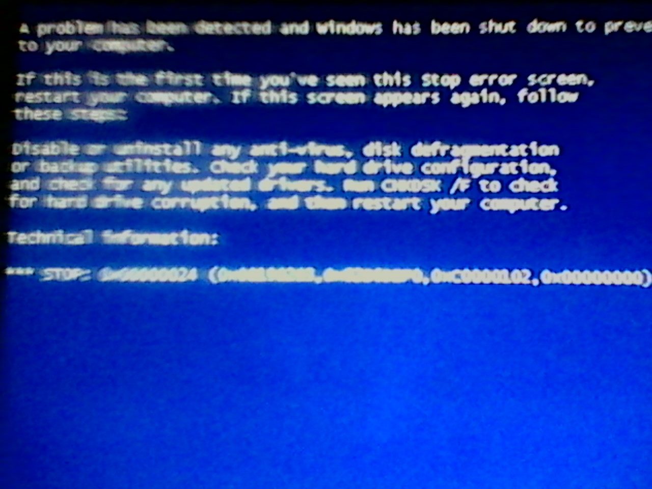 MySQL Fatal Error 65