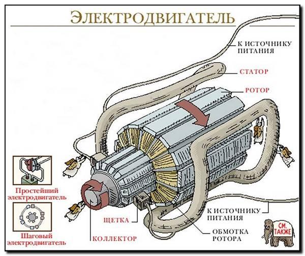 как устроен электро мотор
