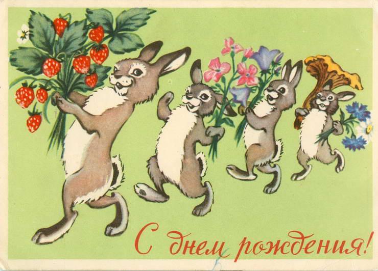 Поздравление с днем рождения зайца