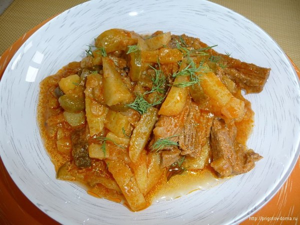 Азу по-татарски из говядины рецепт с фото