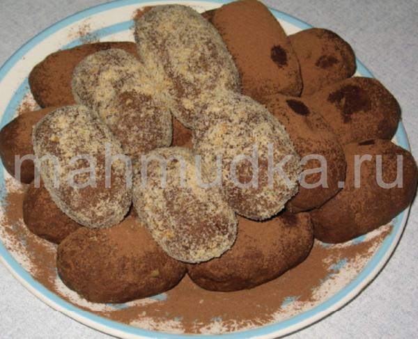 Как сделать пирожное картошку без какао