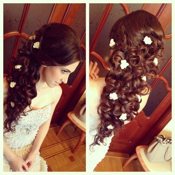 Свадебные причёски на длинные волосы в домашних условиях