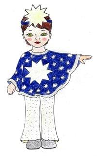 Новогодние костюмы своими руками звездочка