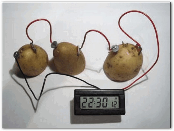 Как сделать батарейку фруктов