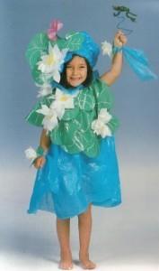 Костюм цветка для девочки из подручных
