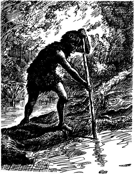 как первобытный человек ловил рыбу