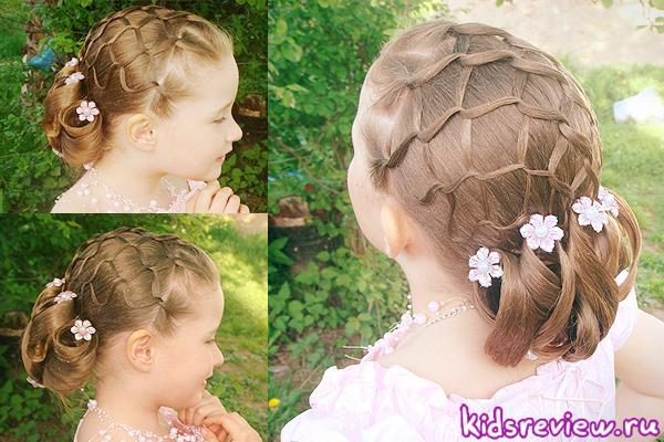 Прически на выпускной детский сад фото средние волосы