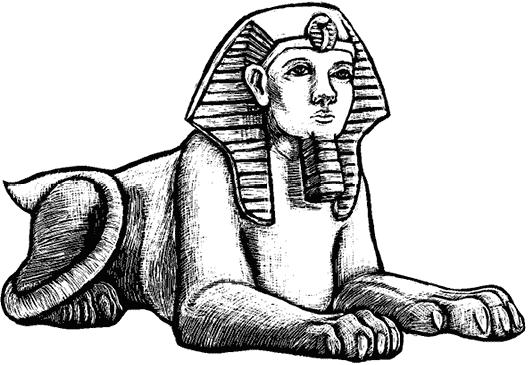 Раскраска египетский сфинкс