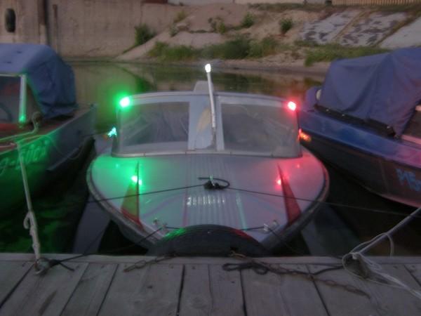 Ходовые огни на лодке своими руками