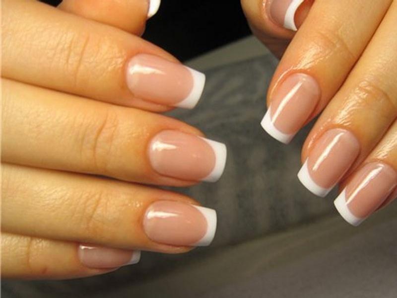 Дизайн ногтей фото френч классический