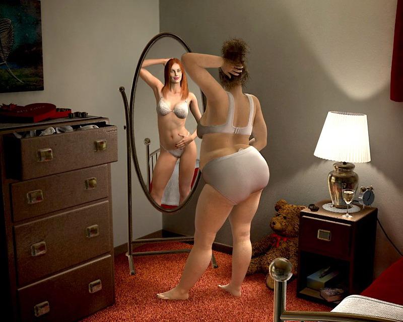 Разные леди показали себя без одежды  663328