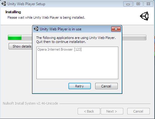 Как сделать так чтобы unity web player работал
