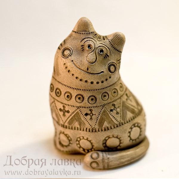 Поделки из глины  свисток котик