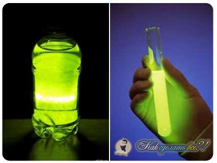 Как сделать светящуюся воду своими руками в домашних условиях