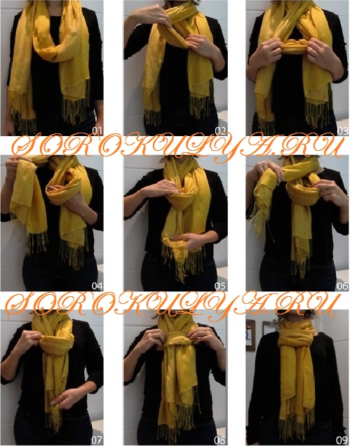 Как правильно завязать шарф на пальто