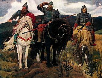 Для образного воплощения любимых народом героев васнецов сумел найти такие художественные решения
