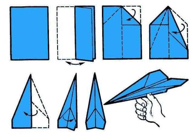 Как сделать из бумаги своими руками самолет