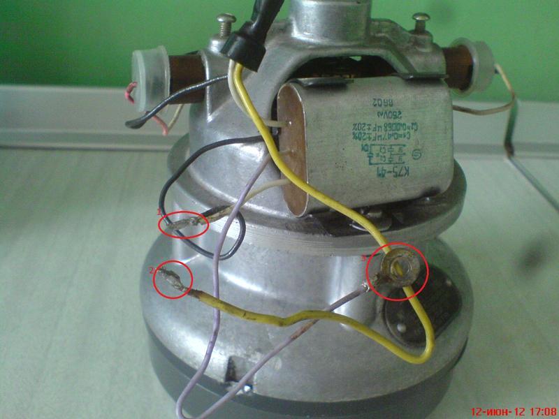 Ремонт эл двигателя пылесоса