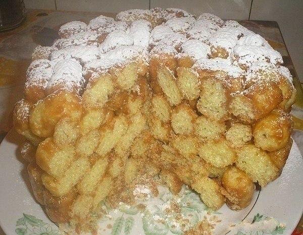 Рецепт с кукурузными палочками и сгущенкой
