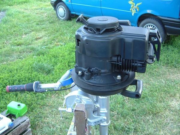 Мотор на лодку из газонокосилки