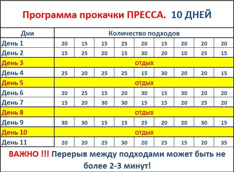 Как накачать пресс за неделю в домашних условиях девушки - Str24.ru