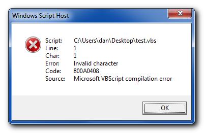 File vbscript javascript commands compile