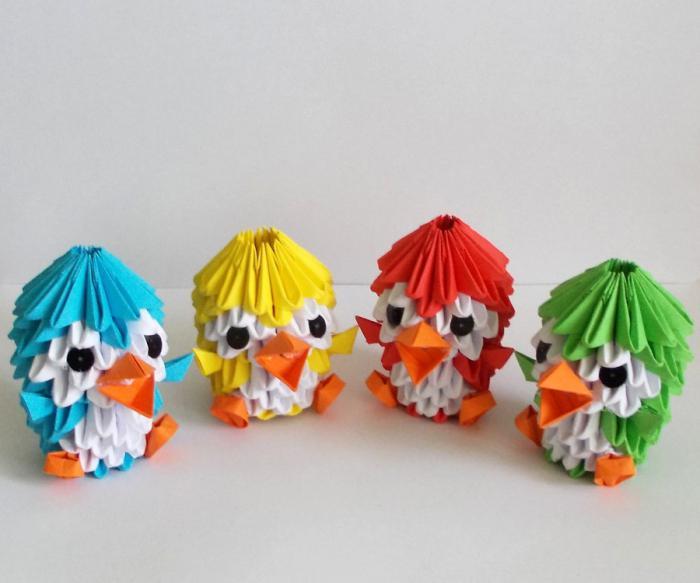 Поделки оригами из модулей в картинках
